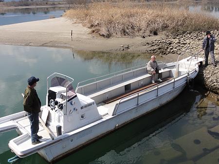 葛木渡船 舟
