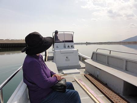 木曽川 渡し船 母ちゃんと乗舟