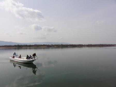 日原渡船 渡船風景