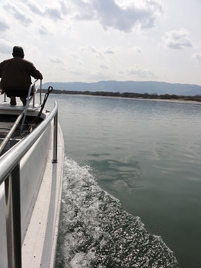 日原渡船 乗船風景