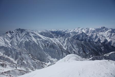 唐松岳頂上からの景色