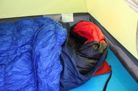テントの寝床 厳冬期バージョン