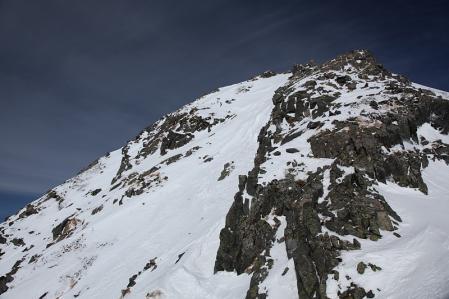 西穂頂上直下の雪壁