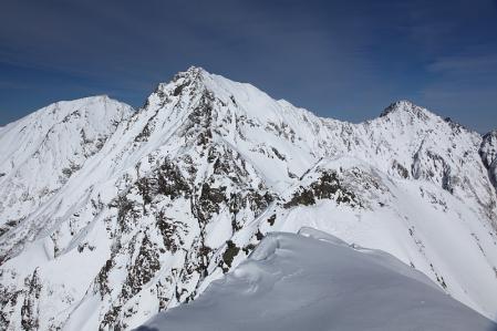 懐かしの景色 西穂山頂から奥穂方面を望む