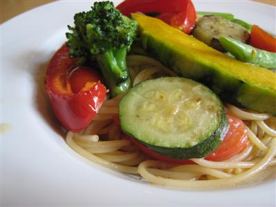 有機野菜のスパゲッティ