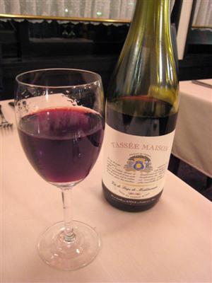 コチラのお店のハウスワイン Tassee Maison