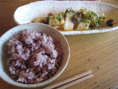 ごはんSET 若どりモモ肉オーブン焼白菜の和風ソース