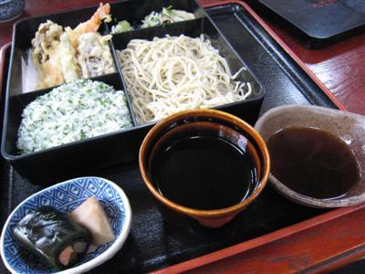 さんしょご飯天ぷら定食 そば