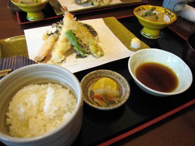 天ぷら定食(海老つき)