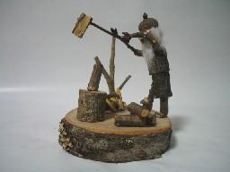 薪割り老人