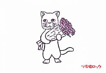 花とねこ♪