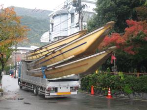 保津川下りの船blog01
