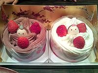 ひな祭りのお祝いケーキ♪