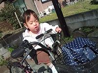 初めての「自転車でお買い物」♪