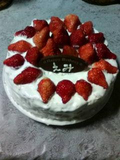 2009.3.9 誕生日ケーキ