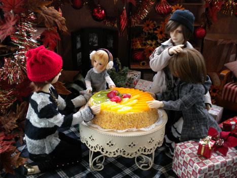 ケーキおいしいね
