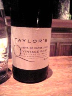 「テイラービンテージポート」Bar Barolo(由布院)