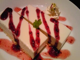 「しっとり!レアチーズケーキ」隠れ家ダイニング 慶(北九州市)