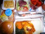 「大阪→カイロ機内食1回目」エジプト航空