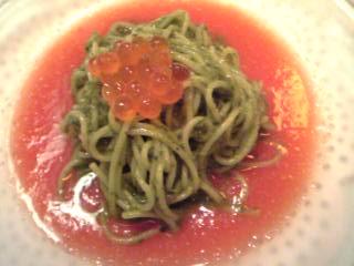 「トマトの冷製パスタ」リストランテ フォンタナ(福岡市)