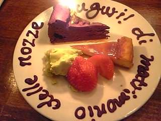 「チーズケーキ、チョコレートケーキ」Counter Italian gufo(福岡市)