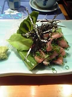 壱岐寿司の鰯のお造り