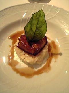 イル・ボッコーネのフォアグラのステーキとパルミジャーノチーズのリゾット