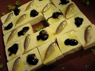 「硬豆腐を使った沖縄風ディップ」
