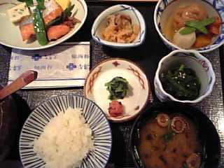 「朝食 茜」なだ万(東京都)