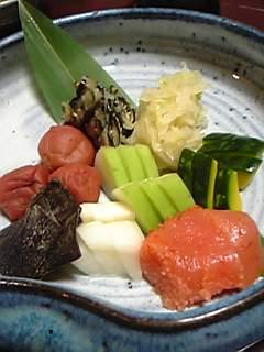 ホテル楠水閣(脇田温泉)朝食のお漬物