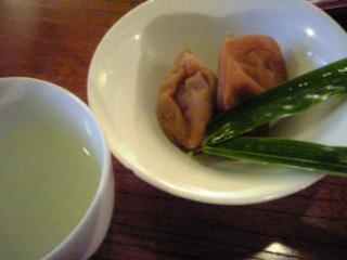 「梅干と柚子蜜」おやど二本の葦束(湯布院)