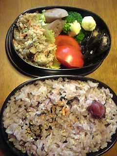 「黒米&発芽玄米&白米」今日のお弁当
