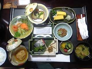 「朝食(8/12)」酒泉の杜 綾陽亭(宮崎県・綾町)