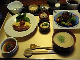 「朝食(洋食)」茶寮 柴扉洞(大分県由布院温泉)