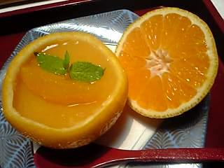 「オレンジゼリー」秀水園(指宿温泉)