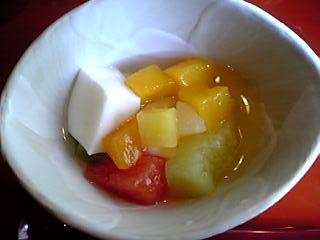 「杏仁豆腐」山荘天水(天ヶ瀬温泉)