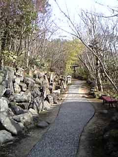 「家族風呂へ」山荘天水(天ヶ瀬温泉)