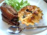 「かしわの紹興酒煮 帆立とかぼちゃのミニグラタン」cafe tomomeal(宗像市)