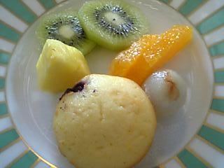 「洋朝食:フルーツ」ハミルトン宇礼志野 トレ・コローネ(嬉野温泉)