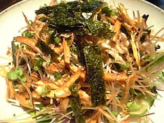 「ごぼうと芽野菜のサラダ」雄屋わさび(福岡市)