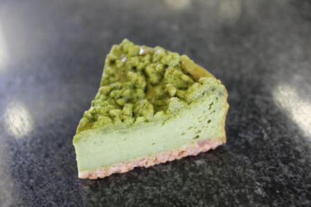 gateau fromage du the vert