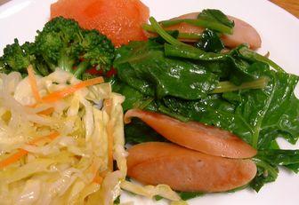 永田野菜で朝食