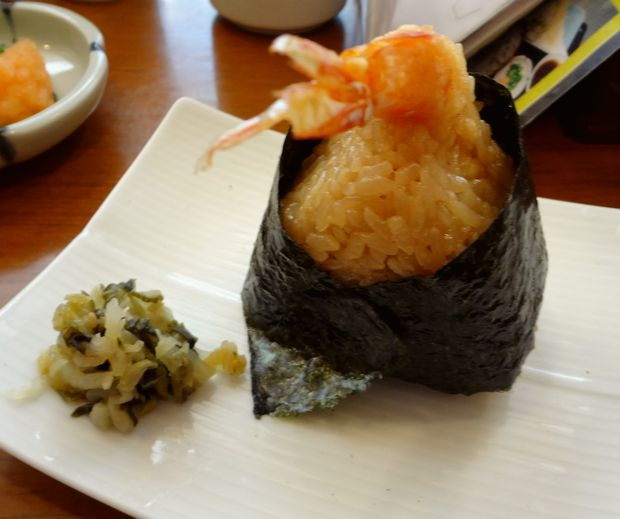 『加辺屋 西公園店』天丼おむすび(お一人様につき1個目は150円、2個目以降は250円)