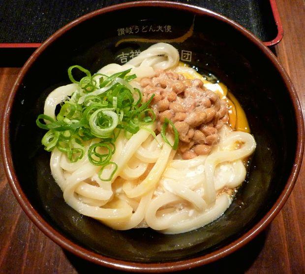 『吉祥寺麺通団』ねばたま(納豆釜卵うどん)・小(400円)