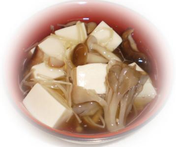 豆腐キノコあんかけ