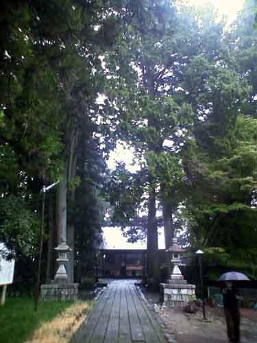 下呂温泉、諏訪神社