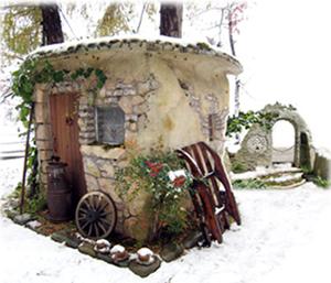 初冬のミストラルの裏庭