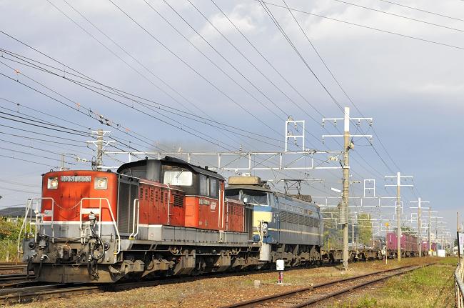 82レ DD51-1803+EF66-27