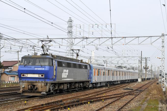 8862レ EF200-8号機【吹】+東武鉄道甲種輸送