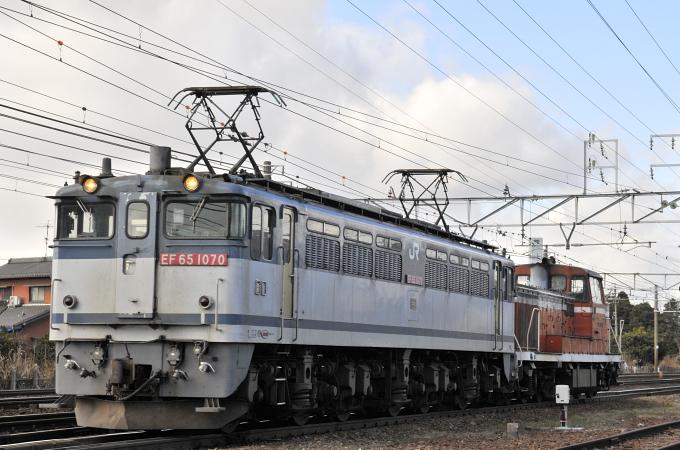 3460レ EF65-1070号機+DE10-1518(ムド)